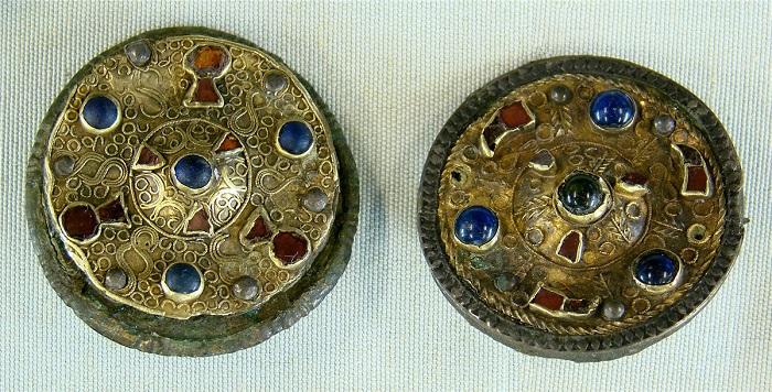 Франкские круглые фибулы. VI век